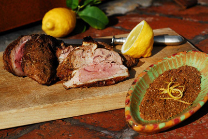 Roasted Leg of Lamb with North-African Spices, Lemon, and Onions ...