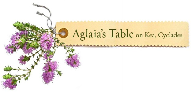 Aglaia's Table οn Kea Cyclades