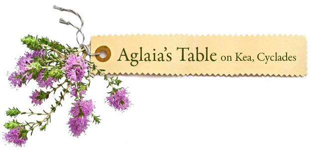 Aglaia's Table οn Kea Cyclades