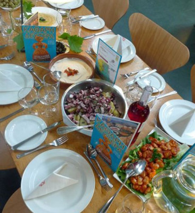 The Lenten Greek Kathari Deftera (Clean Monday) meze-lunch.