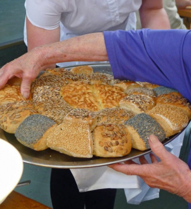 Saturday LUNCH wonderful German breads.