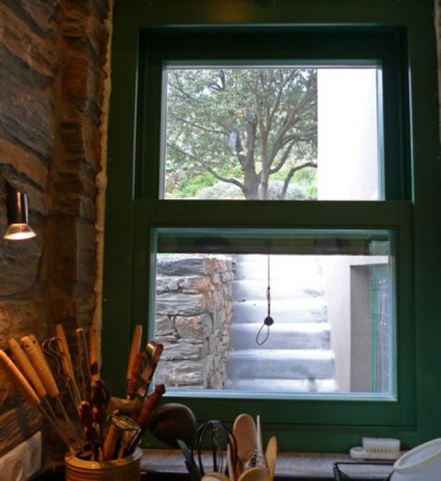 The north-facing window