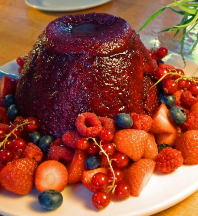 Friday Supper Summer pudding.