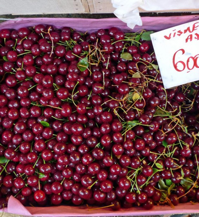 Visne (sour cherries) are used in sweet and savory dishes