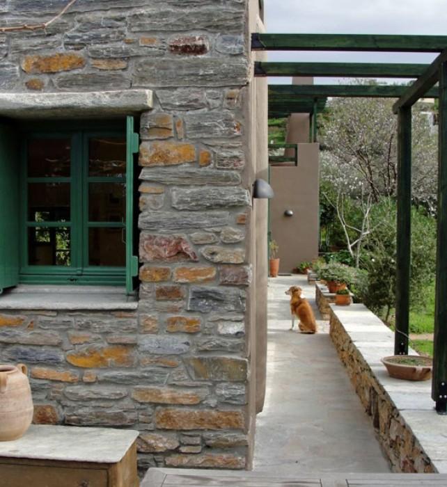 Stone wall from the veranda