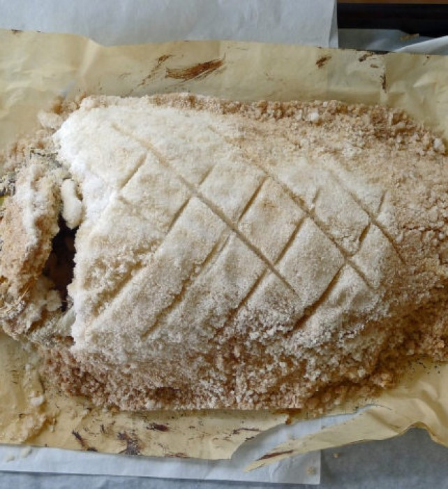 At Magazes tavern, the group enjoyed sea bream baked in salt crust…