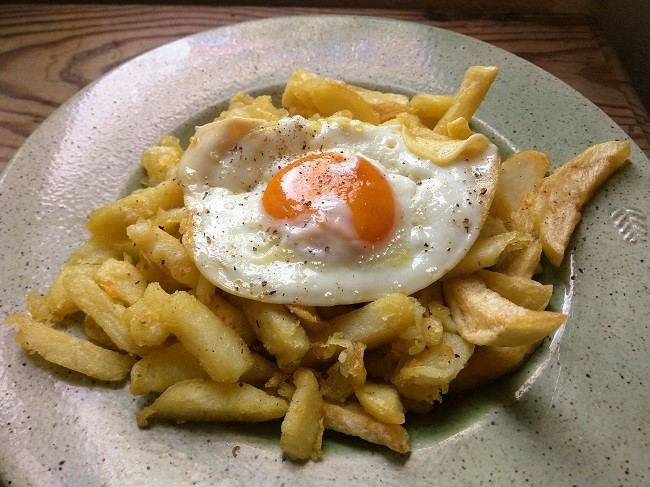Comforting Olive Oil Fried Potatoes And Eggs Aglaia S Table On Kea Cyclades